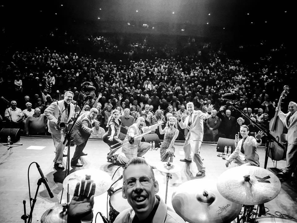 Jive Aces on-stage selfie