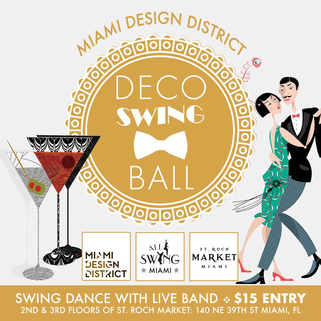 Miami Design District Deco Swing Ball