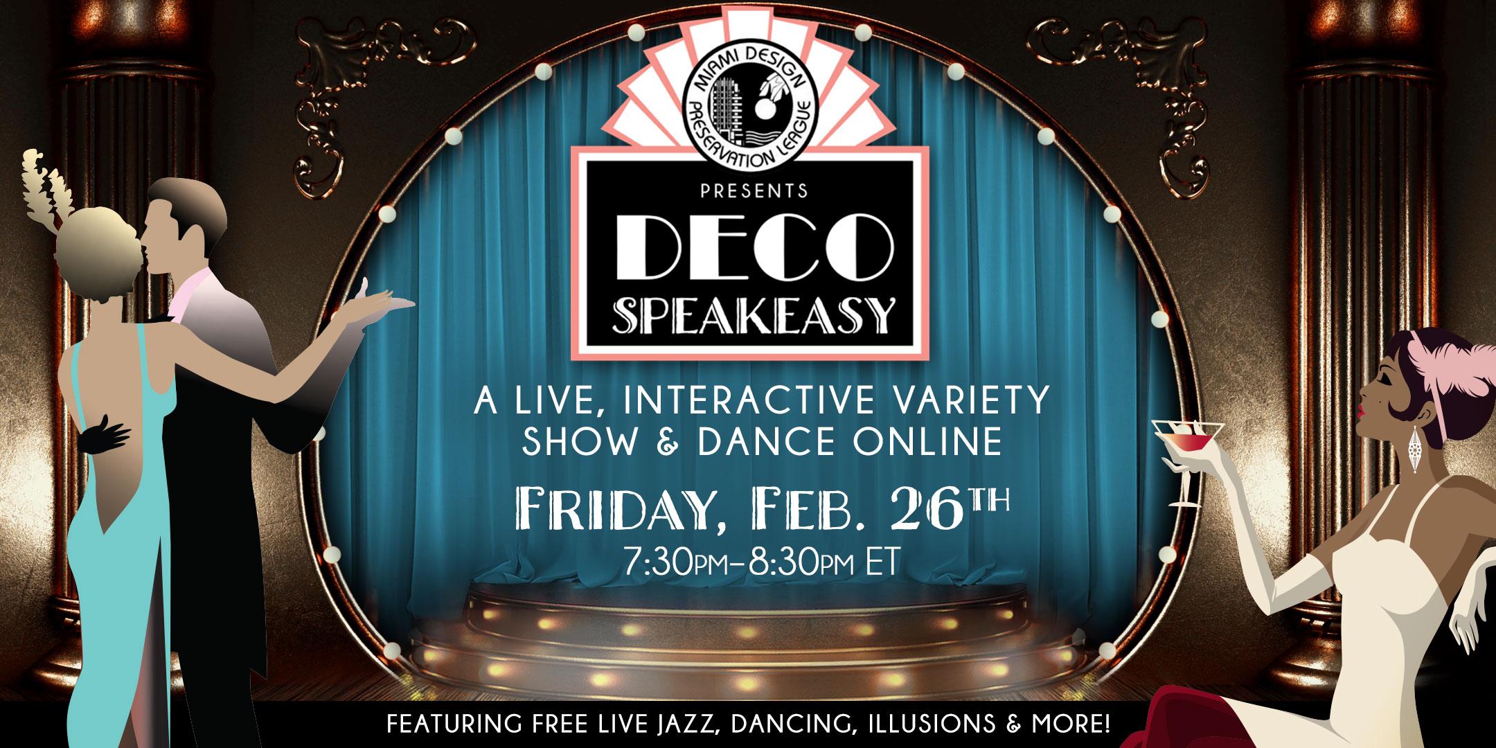 MDPL Deco Speakeasy Friday February 26